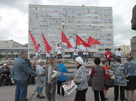 В Братске прошли акции против антинародной власти