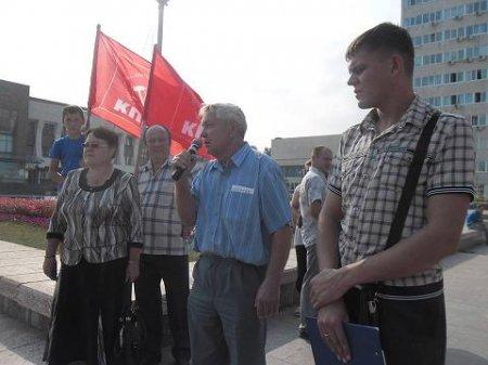 В Братске митингуют автотранспортники