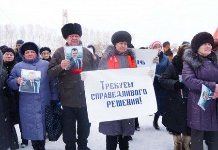Тайшетцы митингом поддержали мэра района Александра Величко