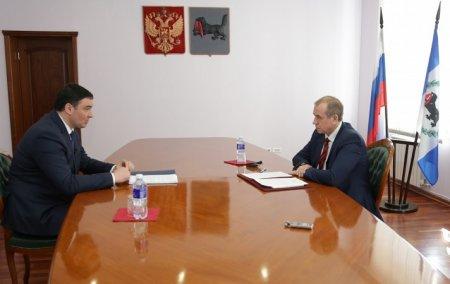 Руслан Болотов отчитался перед Сергеем Левченко об исполнении поручений Послания Губернатора