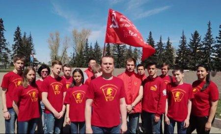 Поздравление с Днём Победы от комсомольцев Иркутска