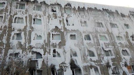 Дом-айсберг в Иркутске начал таять