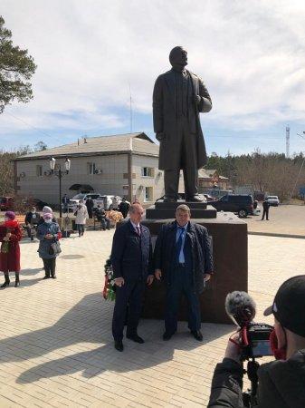 В Саянске состоялось открытие памятника В.И. Ленину